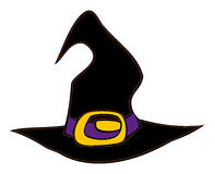 Halloween witch hat. Stock Photos