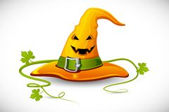 Halloween Witch Hat. Illustration of smiley face carved on witch hat for halloween vector illustration