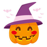 Halloween Witch Hat Pumpkin Stock Photo