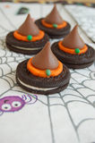 Halloween Witch Hat Treats Royalty Free Stock Photography