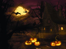 Halloween Witch House Stock Images