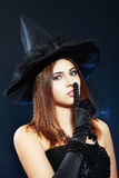 Halloween witch hush Royalty Free Stock Image