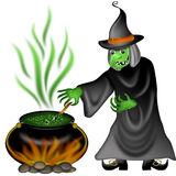Halloween Witch Illustration Royalty Free Stock Photography