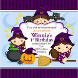 Halloween Witch Invitation Stock Photography