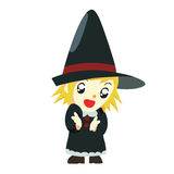 Halloween witch kid Royalty Free Stock Photos