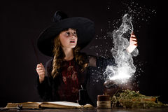 Halloween witch Stock Image