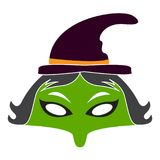 Halloween witch mask Stock Image
