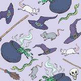 Halloween Witch Party Pattern. Halloween party seamless pattern. Vector illustration, EPS 10 vector illustration