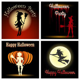 Halloween Witch Party Set Royalty Free Stock Images