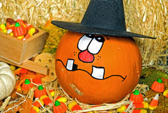 Halloween witch pumpkin Royalty Free Stock Image