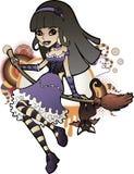 Halloween Witch Purple Stock Photos