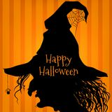 Halloween witch, purple Royalty Free Stock Photography