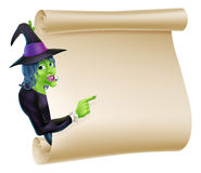 Halloween Witch Scroll Royalty Free Stock Image