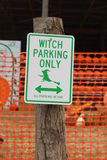 Halloween Witch Sign Royalty Free Stock Photos
