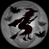 Halloween Witch Silhouette Royalty Free Stock Photography