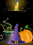 Halloween Witch supplies Stock Photos