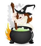 Halloween Witch Vector Royalty Free Stock Photography