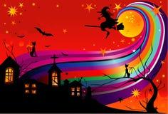Halloween Witch Vector Stock Photo