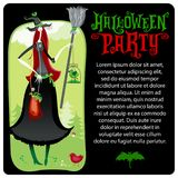 Halloween Witch. Vector template. Halloween series Royalty Free Stock Images