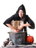 Halloween Witch Wash Day Stock Photo