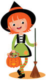 Halloween witch on a white background Stock Image