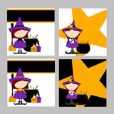 Halloween Witches Backgrounds Stock Photo