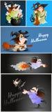 Halloween Witches stock illustration