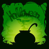 Halloween witches cauldron Stock Image