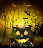 Halloween witches cauldron Stock Photography