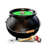 Halloween Witches Cauldron Royalty Free Stock Images