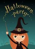Halloween-witchgirl Partei Stockfoto