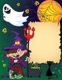 Halloween wizard boy Royalty Free Stock Image