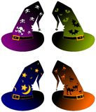 Halloween wizard hats vector Royalty Free Stock Photography