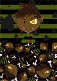 Halloween Wolfman Pattern Stock Photos