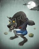 Halloween Wolfman Royalty Free Stock Photography