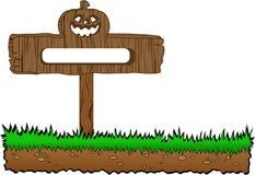 Halloween wood banner Stock Photo