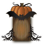 Halloween wood board Stock Photography