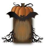 Halloween wood board vector illustration