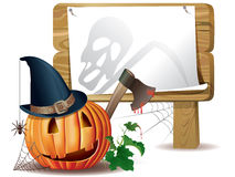 Halloween wooden board Royalty Free Stock Image