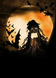 Halloween wooden monster illustration Royalty Free Stock Photo