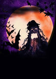Halloween wooden monster illustration Royalty Free Stock Photography