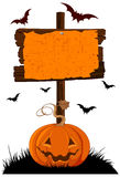 Halloween Wooden Sign Stock Images