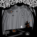 Halloween woods. The illustration of Halloween background Royalty Free Stock Photos