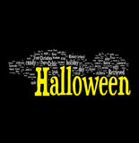Halloween word cloud stock illustration
