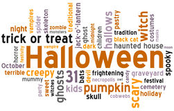 Halloween Word Cloud Royalty Free Stock Photo