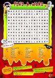 Halloween word game Stock Photo