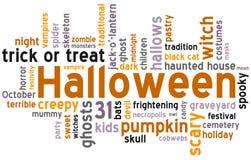 Halloween-Word Wolk Royalty-vrije Stock Foto
