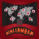 Halloween world map Royalty Free Stock Photography