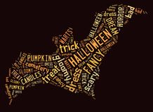 Halloween-Wort-Wolke Stockfoto