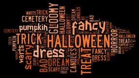 Halloween-Wort-Wolke Lizenzfreie Stockfotos